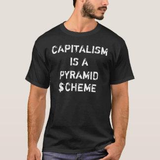"""Capitalism is a Pyramid Scheme"" Colour T-Shirt"
