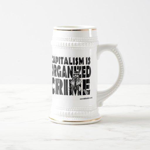 Capitalism is Organized Crime Mugs