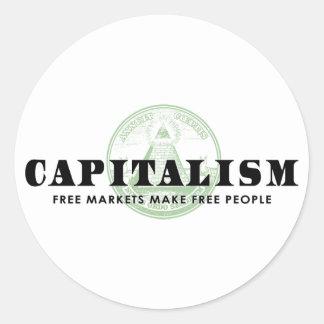 Capitalism Round Sticker