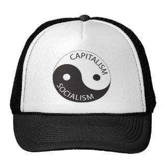 Capitalism Socialism Yin Yang Trucker Hat