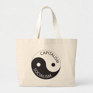 Capitalism, Socialism; Yin, Yang Large Tote Bag