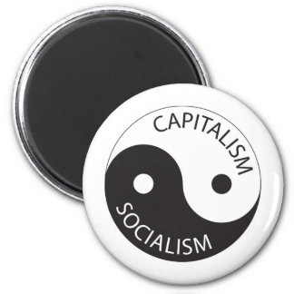 Capitalism, Socialism; Yin, Yang Magnet