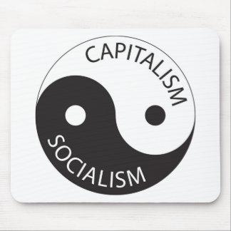 Capitalism, Socialism; Yin, Yang Mouse Pad