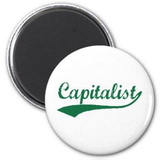 Capitalist 6 Cm Round Magnet