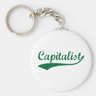 Capitalist Basic Round Button Key Ring