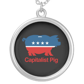 Capitalist Pig.png Custom Necklace