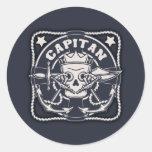 Capitan Round Stickers