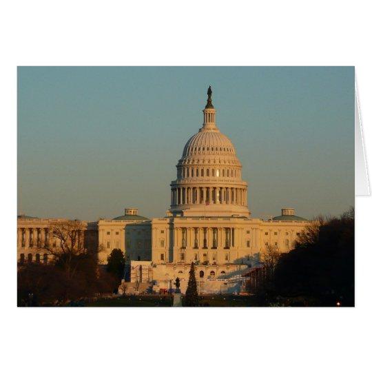Capitol at Christmas Washington DC Holiday Photo Card