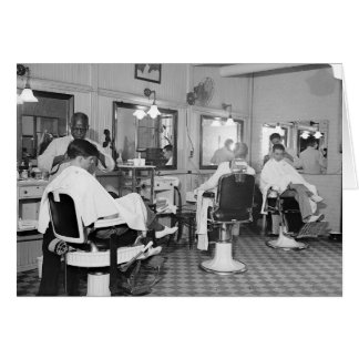 Capitol Barber Shop, 1938 Greeting Card