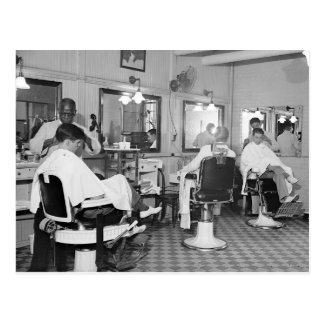 Capitol Barber Shop, 1938 Postcard
