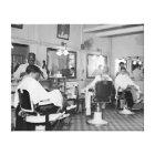 Capitol Barber Shop, 1938. Vintage Photo Canvas Print