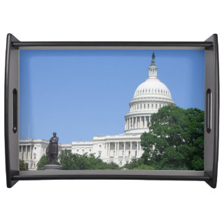 Capitol Building in Washington DC Serving Tray