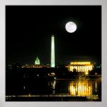 Capitol Building, Lincoln Memorial, Washington Poster