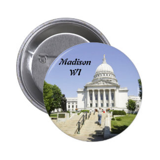 Capitol Building Madison WI 6 Cm Round Badge