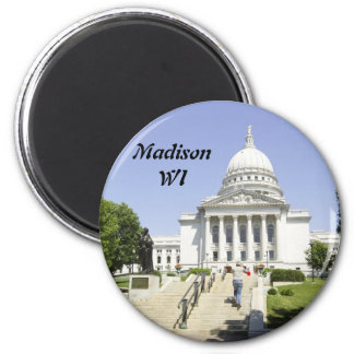 Capitol Building Madison WI 6 Cm Round Magnet
