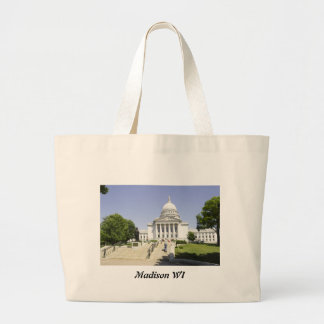 Capitol Building Madison WI Large Tote Bag