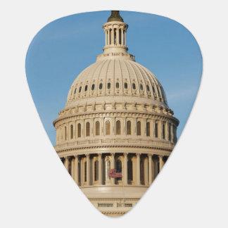 Capitol Building shot at dusk Guitar Pick