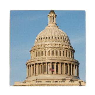 Capitol Building shot at dusk Wood Coaster