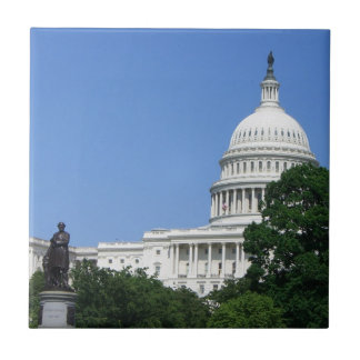 Capitol Building US Government in Washington DC Small Square Tile