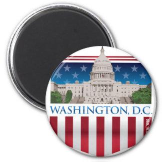 Capitol Building - Washington DC 6 Cm Round Magnet