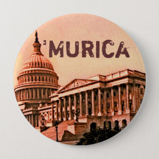 Capitol Building Washington DC Murica America 1900 10 Cm Round Badge