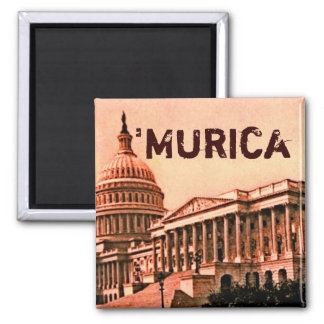 Capitol Building Washington DC Murica America 1900 Square Magnet