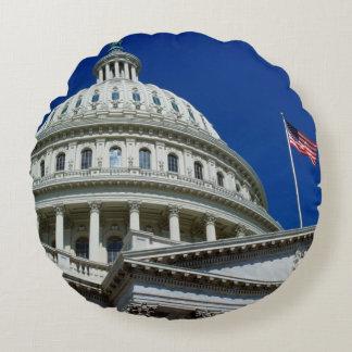 Capitol Building, Washington, USA Round Cushion