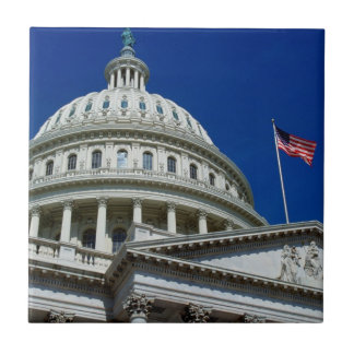Capitol Building, Washington, USA Small Square Tile