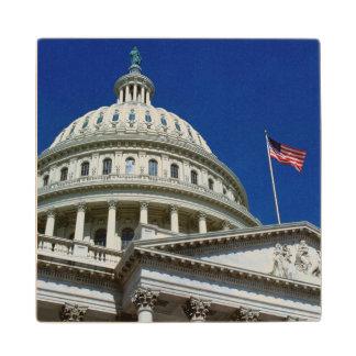 Capitol Building, Washington, USA Wood Coaster