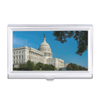 Capitol Building West View Business Card Holder