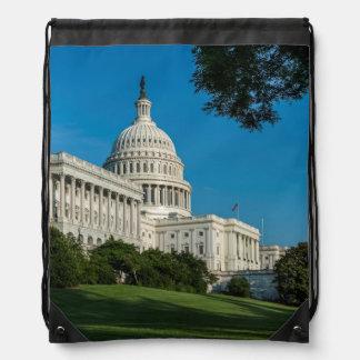 Capitol Building West View Drawstring Bag