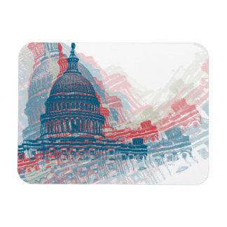 Capitol Crisis Rectangular Photo Magnet