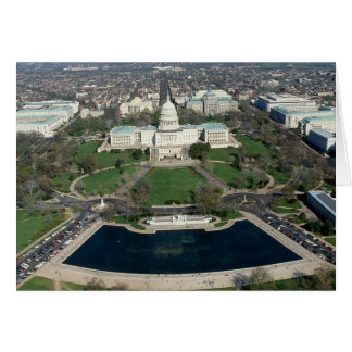 Capitol Hill Aerial Photograph 2 Card