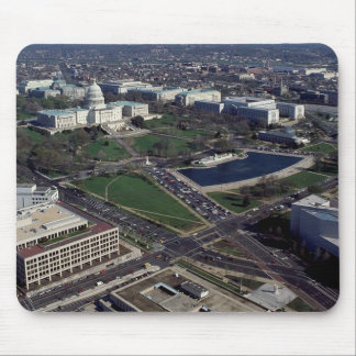 Capitol Hill Aerial Photograph Mouse Pad