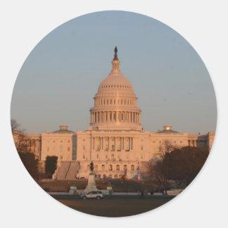 Capitol Hill Round Sticker