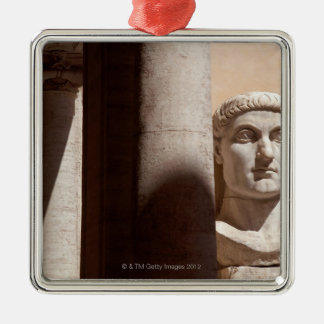 Capitol museum, bust face of emperor constantine christmas ornament