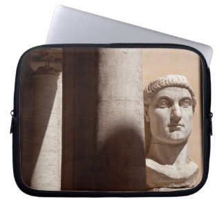 Capitol museum, bust face of emperor constantine laptop sleeve