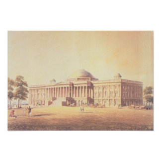 Capitol of the United States, engraved by Poster