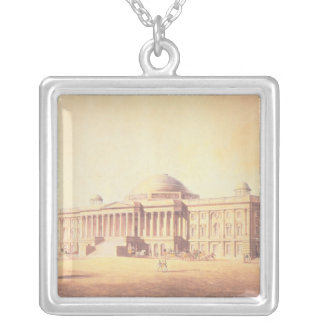 Capitol of the United States, engraved by Silver Plated Necklace