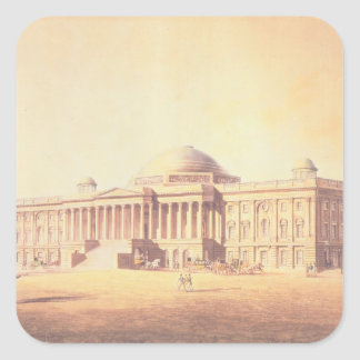 Capitol of the United States, engraved by Square Sticker