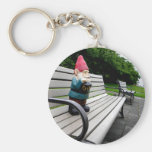 Capitol Park Gnome Basic Round Button Key Ring