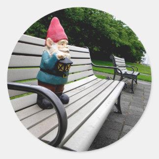 Capitol Park Gnome Classic Round Sticker