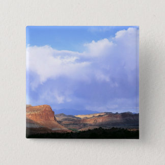 Capitol Reef National Park, Utah. USA. Cumulus 15 Cm Square Badge