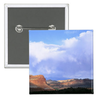 Capitol Reef National Park, Utah. USA. Cumulus 15 Cm Square Badge