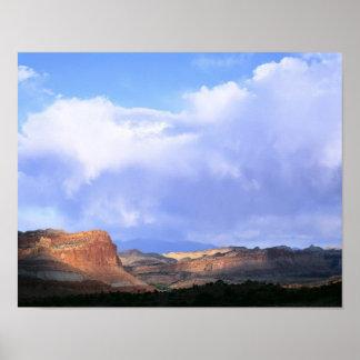 Capitol Reef National Park, Utah. USA. Cumulus Poster