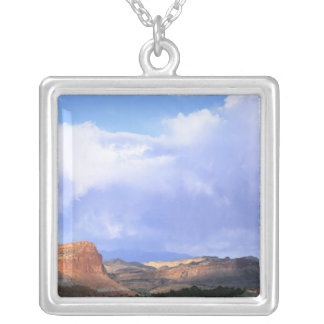 Capitol Reef National Park, Utah. USA. Cumulus Silver Plated Necklace