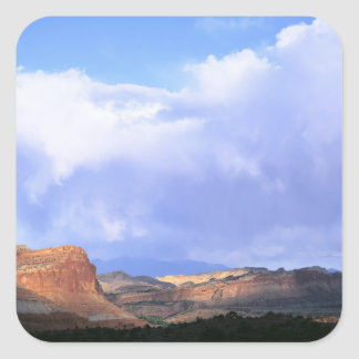 Capitol Reef National Park, Utah. USA. Cumulus Square Sticker