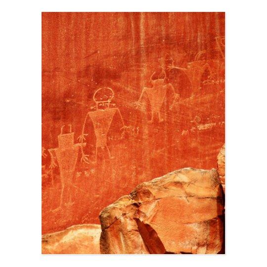 Capitol Reef Petroglyphs Postcard