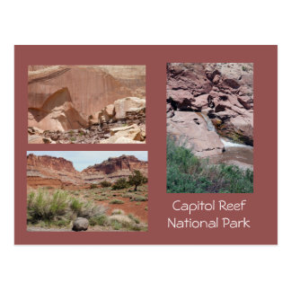 Capitol Reef Scenic Photo Template Postcard