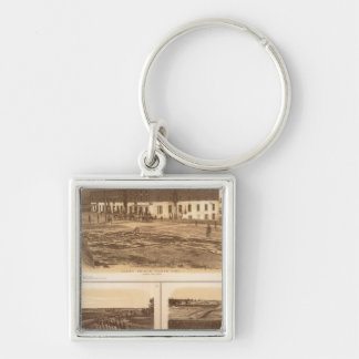 Capitol, Richmond Libby Prison Silver-Colored Square Key Ring